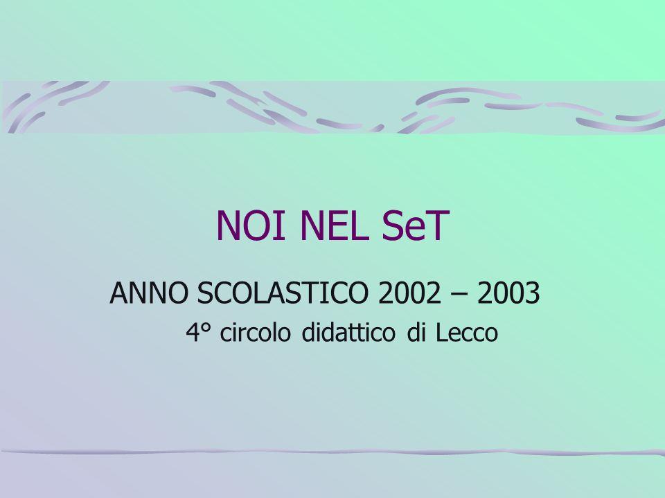 NOI NEL SeT ANNO SCOLASTICO 2002 – 2003 4° circolo didattico di Lecco