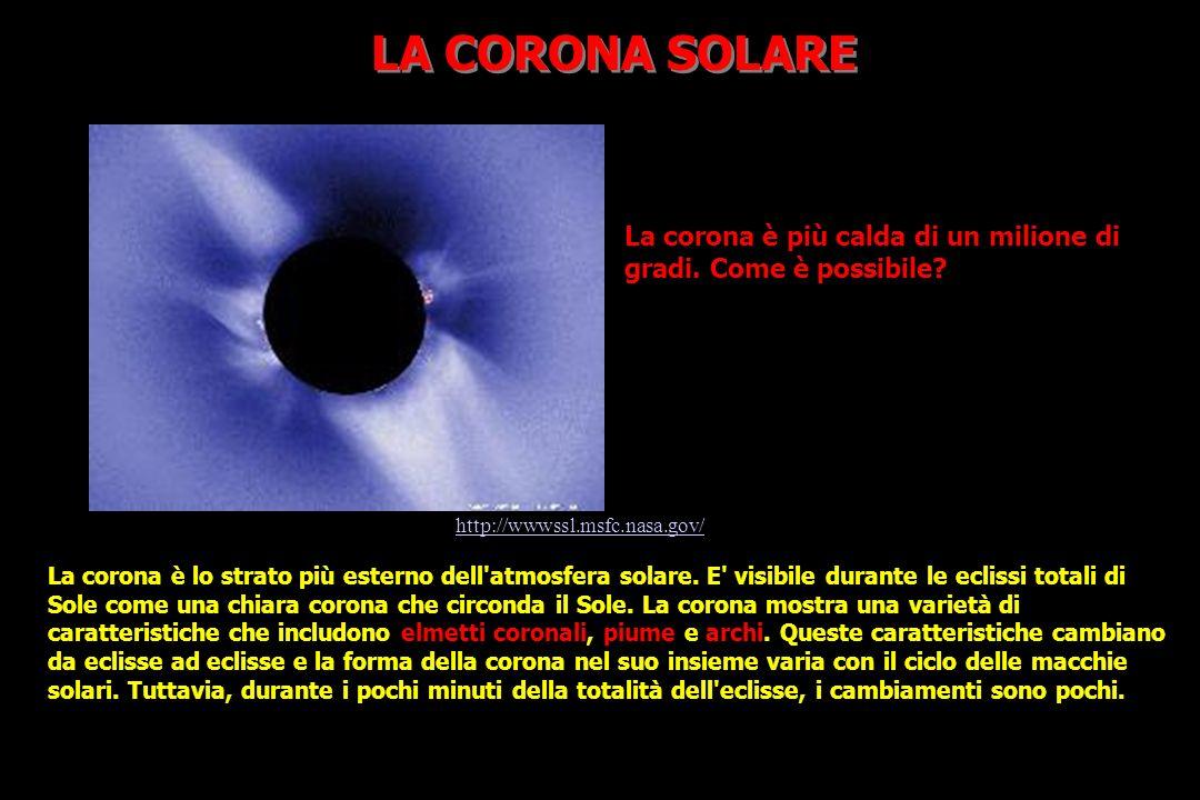 La corona è lo strato più esterno dell atmosfera solare.