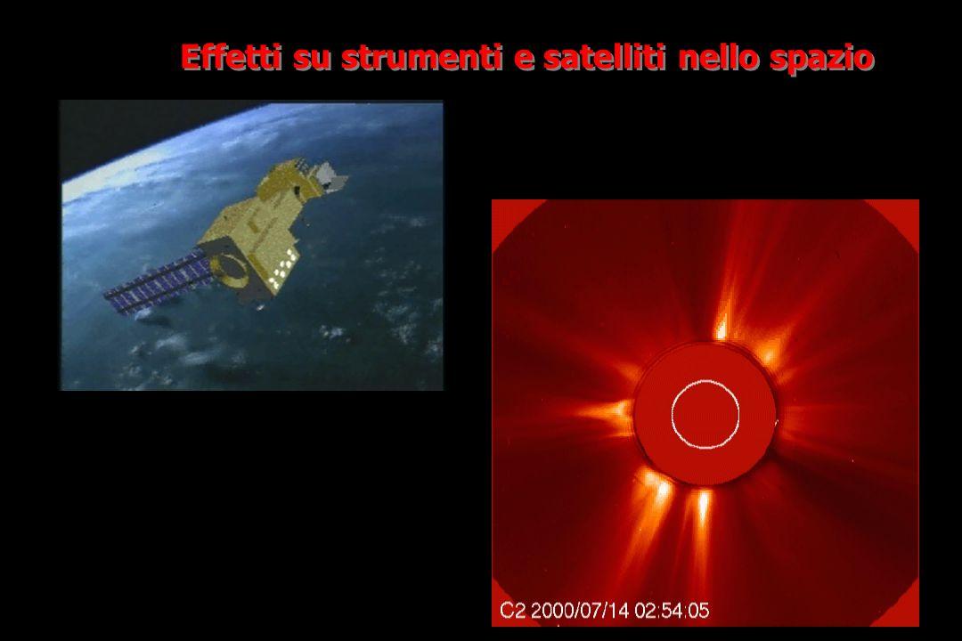 Effetti su strumenti e satelliti nello spazio
