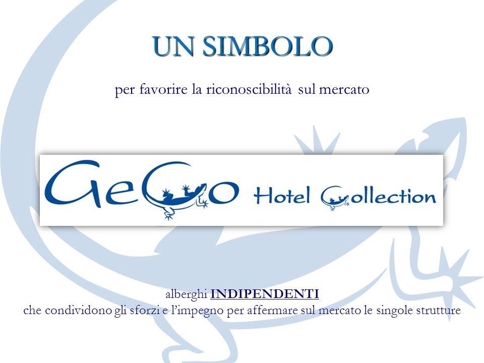 UN SIMBOLO per favorire la riconoscibilità sul mercato alberghi INDIPENDENTI che condividono gli sforzi e limpegno per affermare sul mercato le singol
