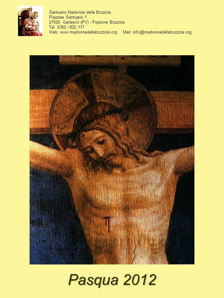 Santuario Madonna della Bozzola Piazzale Santuario 1 27026 Garlasco (PV) - Frazione Bozzola Tel. 0382 / 822 117 Web: www.madonnadellabozzola.org Mail: