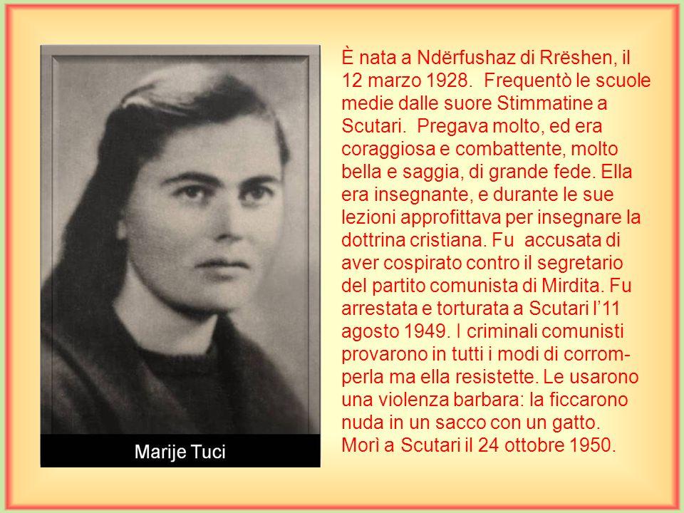 È nato a Scutari il 4 settembre 1885. Compì tutte le scuole presso i frati minori di Scutari, mentre la teologia a Salisburgo, Austria dove fu ordinat