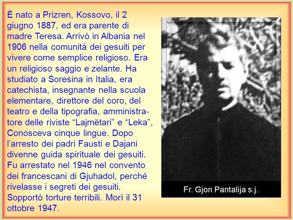 È nato a Elbasan il 23 settembre 1912. Compì le scuole medie nel seminario Benedetto XV a Grotta- ferrata, Italia, gli studi di filosofia e di teologi