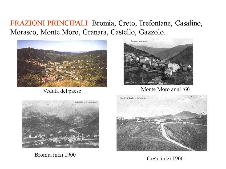 I dintorni di Montoggio si presentano al livello di 466 m con cime che permettono di osservare il mare fino alle Alpi. Sorge alla confluenza del Lacci