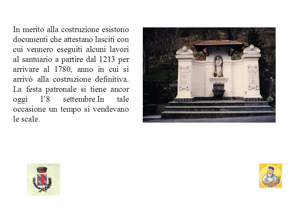 SANTUARIO DI N.S.DI TRE FONTANE A Montoggio si trova il santuario di Santa Maria delle Tre fontane La tradizione narra dellapparizione di Maria ad una