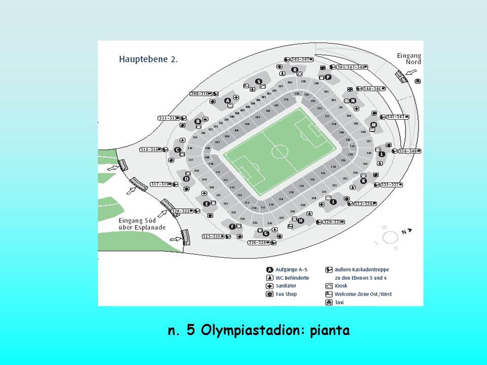 n. 5 Olympiastadion: pianta