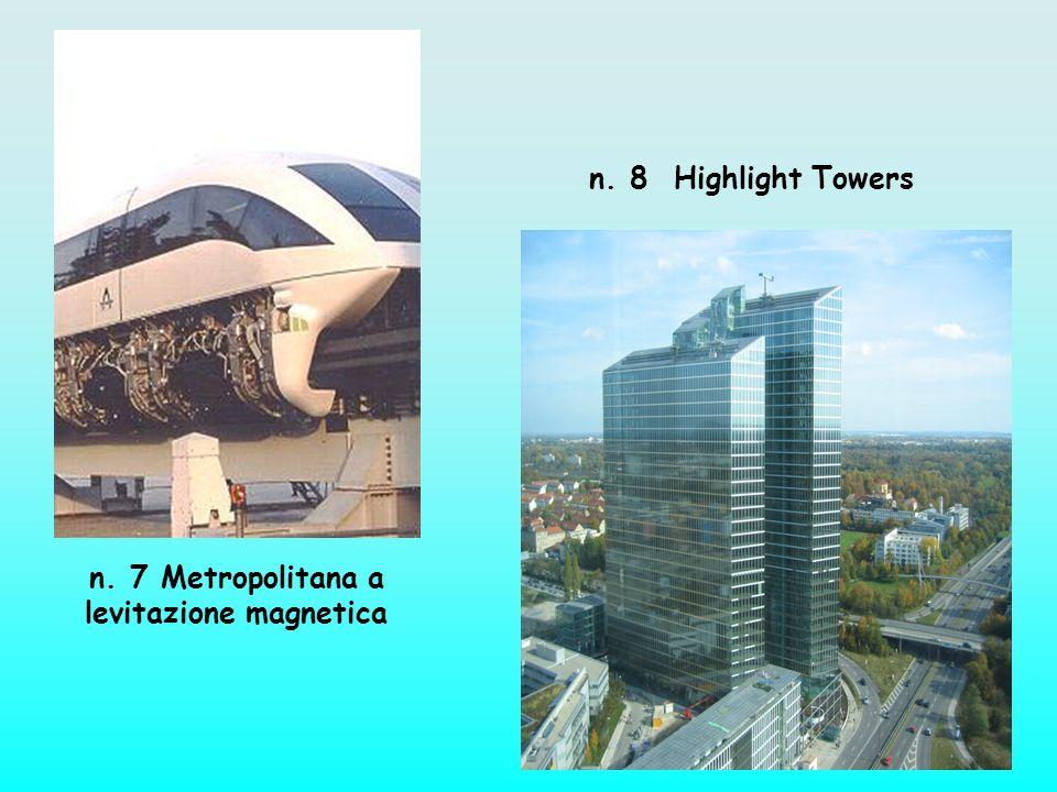 n. 7 Metropolitana a levitazione magnetica n. 8 Highlight Towers