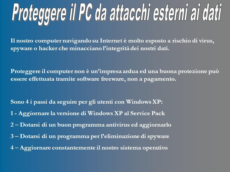 1 – Installazione del Service Pack 3 per Windows XP.