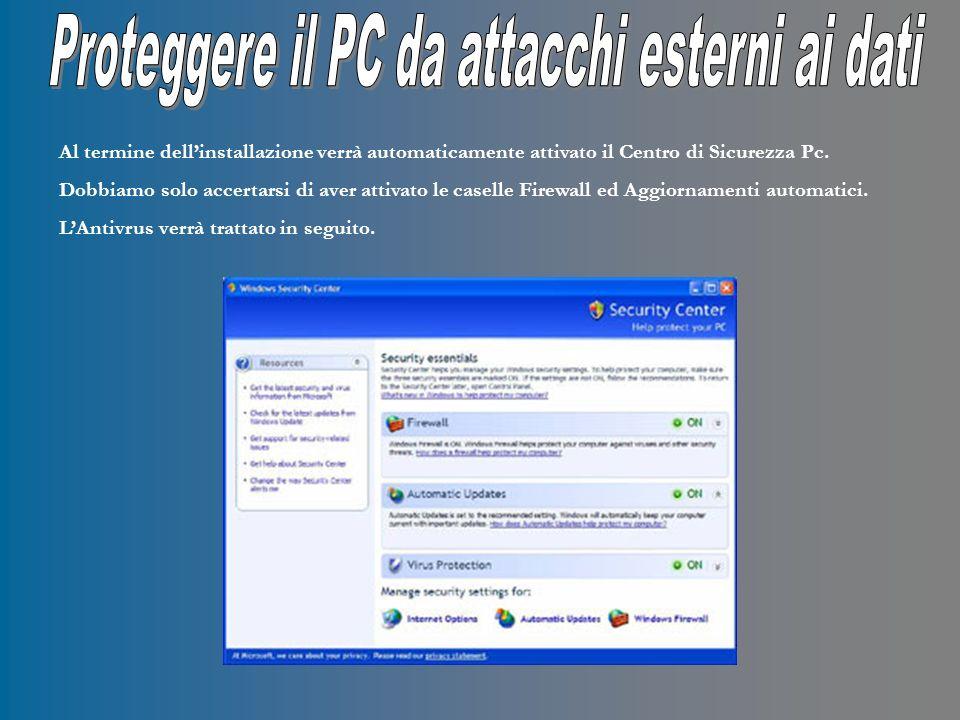 2 – Una volta installato laggiornamento di Windows dobbiamo trovare un buon Antivirus per il nostro PC.