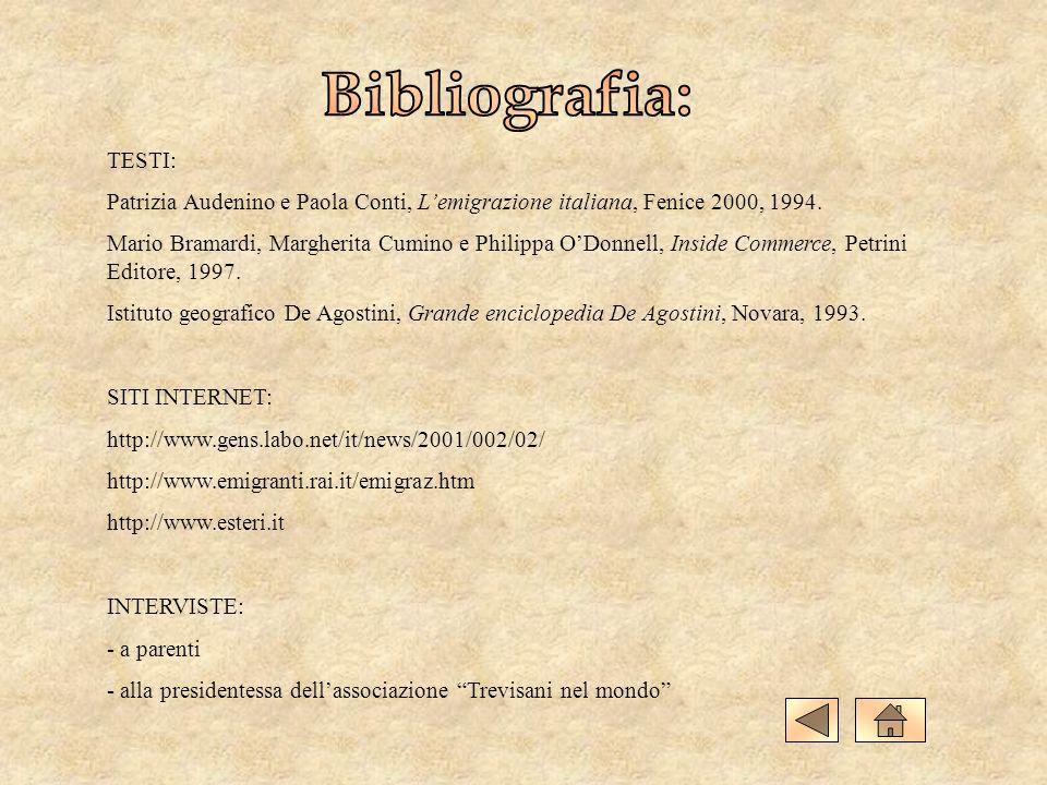 TESTI: Patrizia Audenino e Paola Conti, Lemigrazione italiana, Fenice 2000, 1994. Mario Bramardi, Margherita Cumino e Philippa ODonnell, Inside Commer