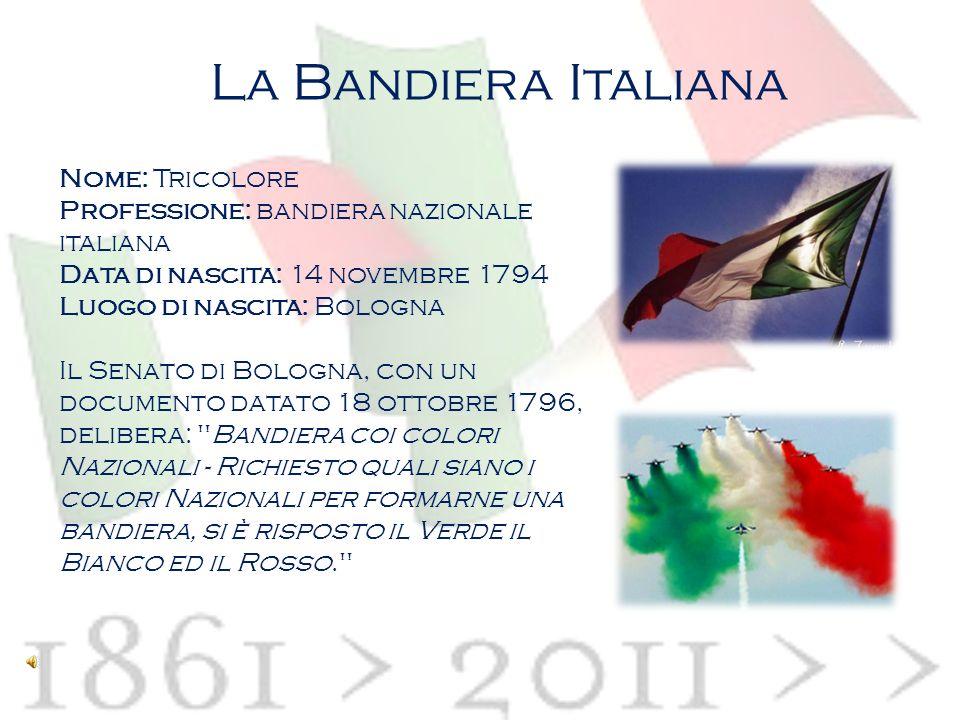 La costituzione italiana: articolo 12 Il canto degli italiani il tricolore nella cultura La bandiera italiana Il significato dei colori Il tricolore