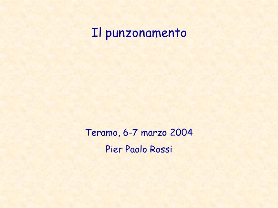 Il punzonamento Teramo, 6-7 marzo 2004 Pier Paolo Rossi