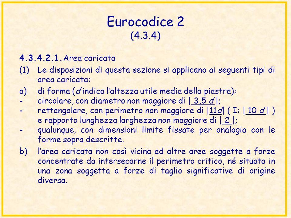 Eurocodice 2 (4.3.4) 4.3.4.2.1.Area caricata (1)Le disposizioni di questa sezione si applicano ai seguenti tipi di area caricata: a)di forma (d indica