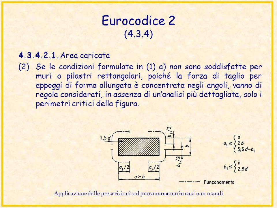 Eurocodice 2 (4.3.4) 4.3.4.2.1.Area caricata (2)Se le condizioni formulate in (1) a) non sono soddisfatte per muri o pilastri rettangolari, poiché la