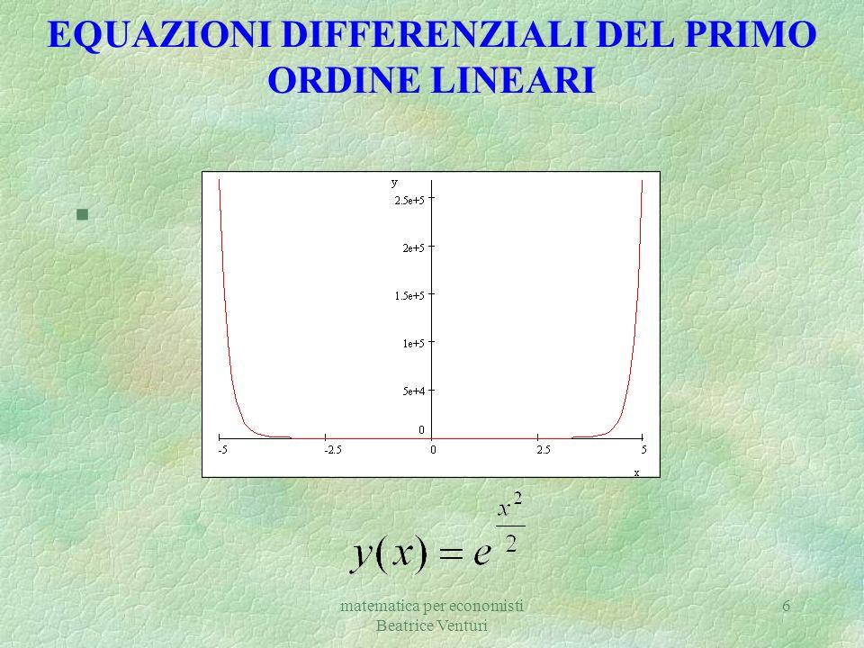 matematica per economisti Beatrice Venturi 6 EQUAZIONI DIFFERENZIALI DEL PRIMO ORDINE LINEARI §[Plot]