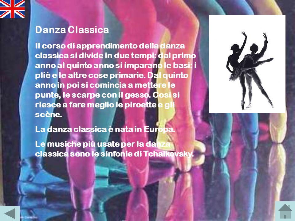 LA DANZA : Danza Classica, Balli di coppiaDanza ClassicaBalli di coppia Danza moderna, Hip hopDanza modernaHip hop GLI ARTISTI : Rudolf Nureyev, Micha