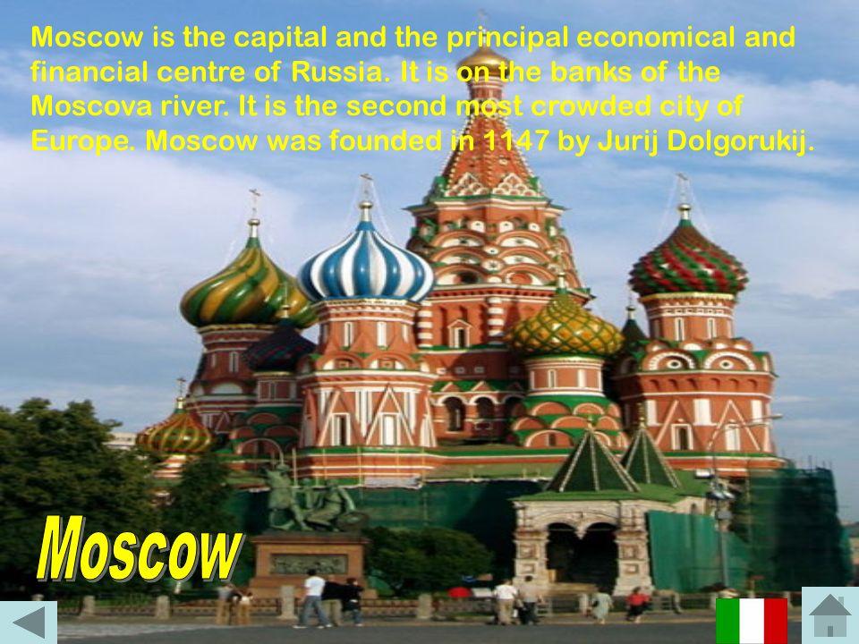 Mosca è la capitale, nonché il principale centro economico e finanziario, della Russia. Sorge sulle sponde del fiume Moscova, ed occupa una superficie