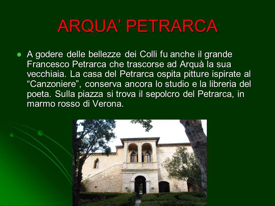 ESTE Este ebbe grande importanza sotto la nobile famiglia Da Carrara che fece costruire nel 1340 il bel castello cuore della cittadina. Le mura del ca
