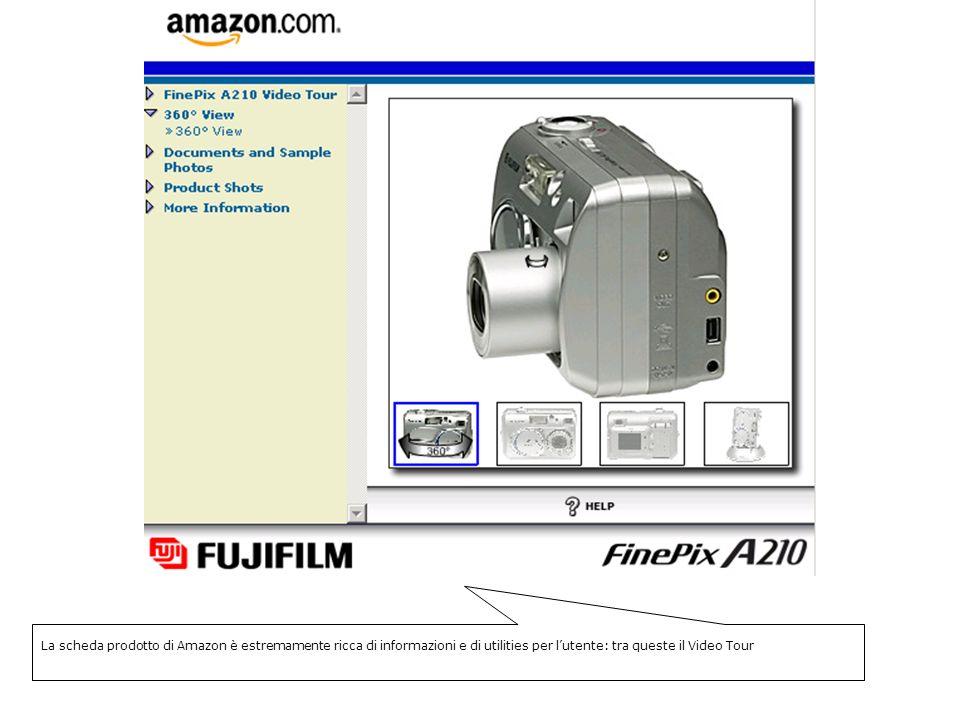 La scheda prodotto di Amazon è estremamente ricca di informazioni e di utilities per lutente: tra queste il Video Tour