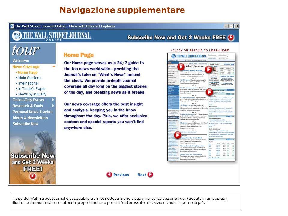 Navigazione supplementare Il sito del Wall Street Journal è accessibile tramite sottoscrizione a pagamento.