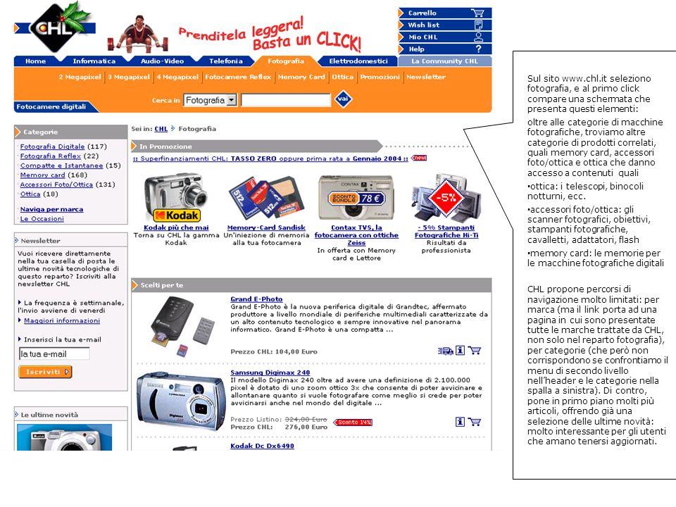 Il link mi porta ad una lista di tutte le marche di prodotti presenti sul catalogo CHL, non solo le macchine fotografiche, come faccio a sapere quali sono le marche di macchine fotografiche digitali.