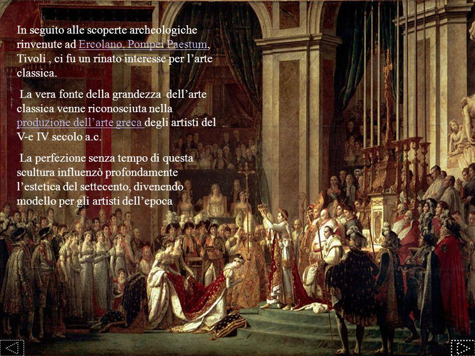 Roma divenne la capitale del neoclassicismo e fu un ruolo centrale che conservò fino allo scoppio della rivoluzione francese.