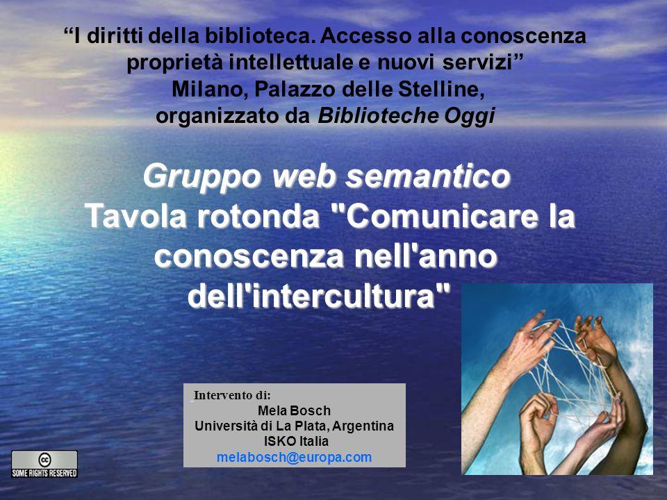 I diritti della biblioteca. Accesso alla conoscenza proprietà intellettuale e nuovi servizi Milano, Palazzo delle Stelline, organizzato da Biblioteche