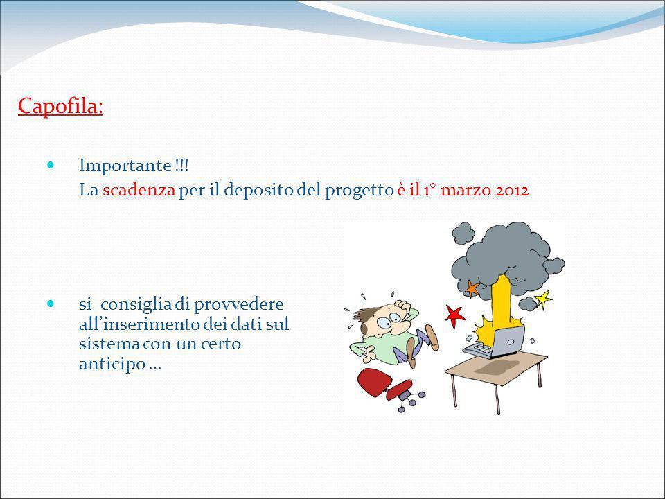 Capofila: Importante !!.