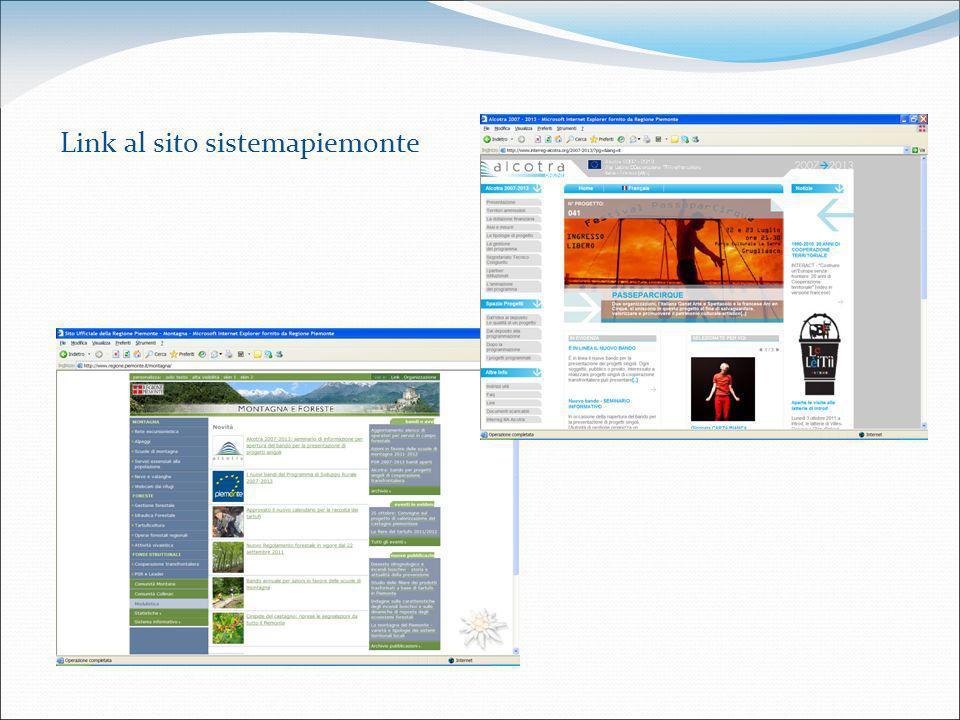 Link al sito sistemapiemonte