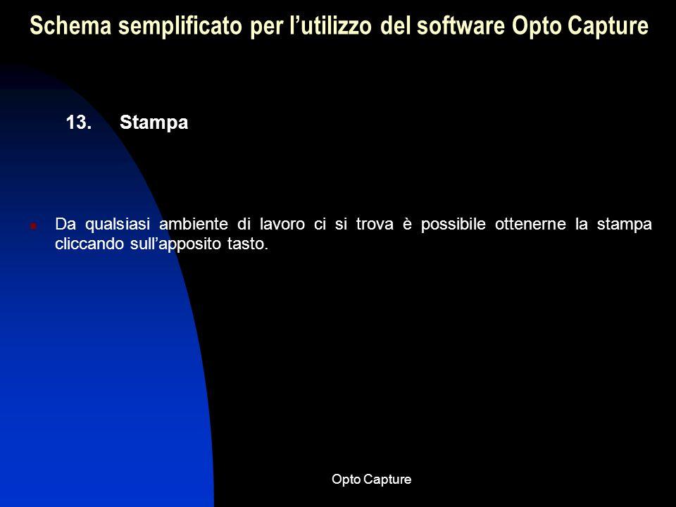 Opto Capture Schema semplificato per lutilizzo del software Opto Capture 12. Esporta immagini Nel caso in cui si volesse trasportare immagini in altra