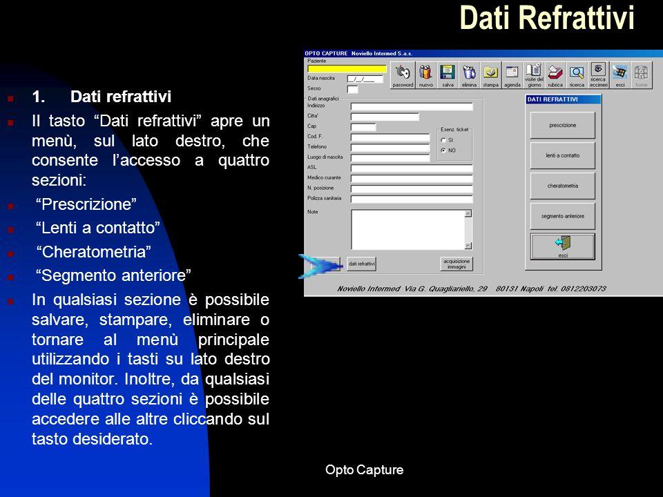Opto Capture Schema semplificato per lutilizzo del software Opto Capture 8.