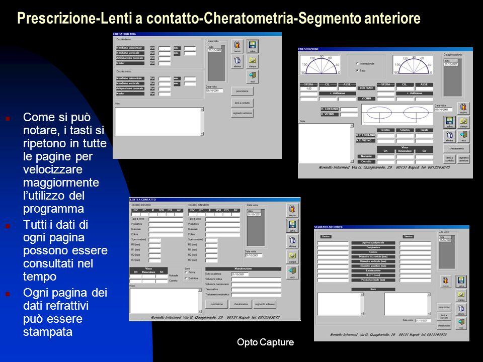 Opto Capture Schema semplificato per lutilizzo del software Opto Capture 9.