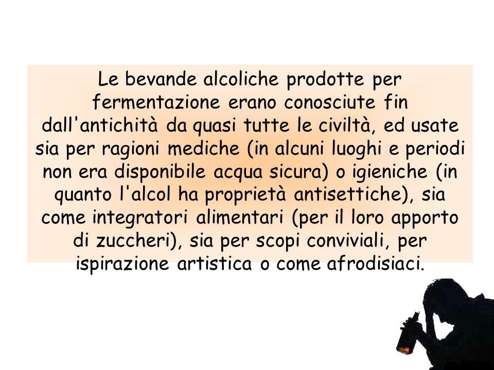 Consumi Alcol?