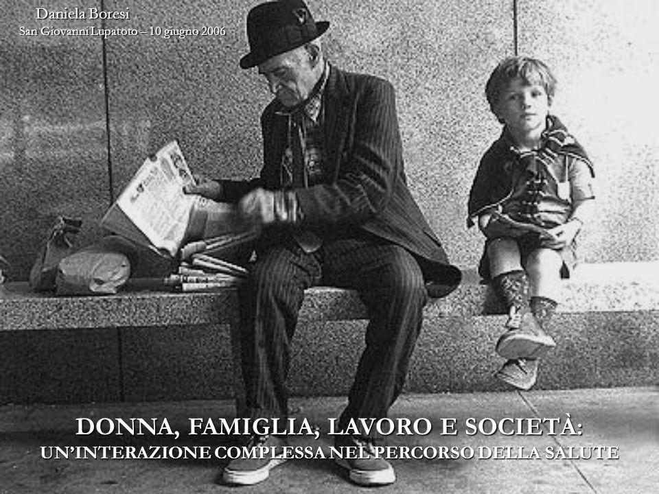 Daniela Boresi Daniela Boresi San Giovanni Lupatoto – 10 giugno 2006 DONNA, FAMIGLIA, LAVORO E SOCIETÀ: UNINTERAZIONE COMPLESSA NEL PERCORSO DELLA SALUTE