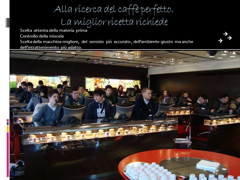 Alla ricerca del caffè perfetto. La miglior ricetta richiede Scelta attenta della materia prima Controllo della miscela Scelta della macchina migliore