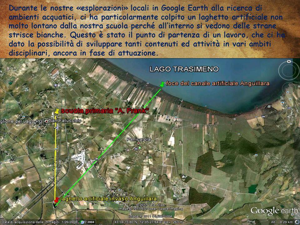 Durante le nostre «esplorazioni» locali in Google Earth alla ricerca di ambienti acquatici, ci ha particolarmente colpito un laghetto artificiale non