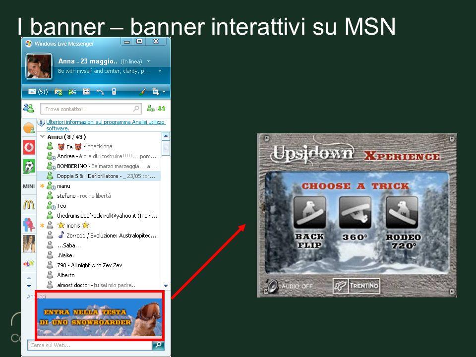 I banner – banner interattivi su MSN