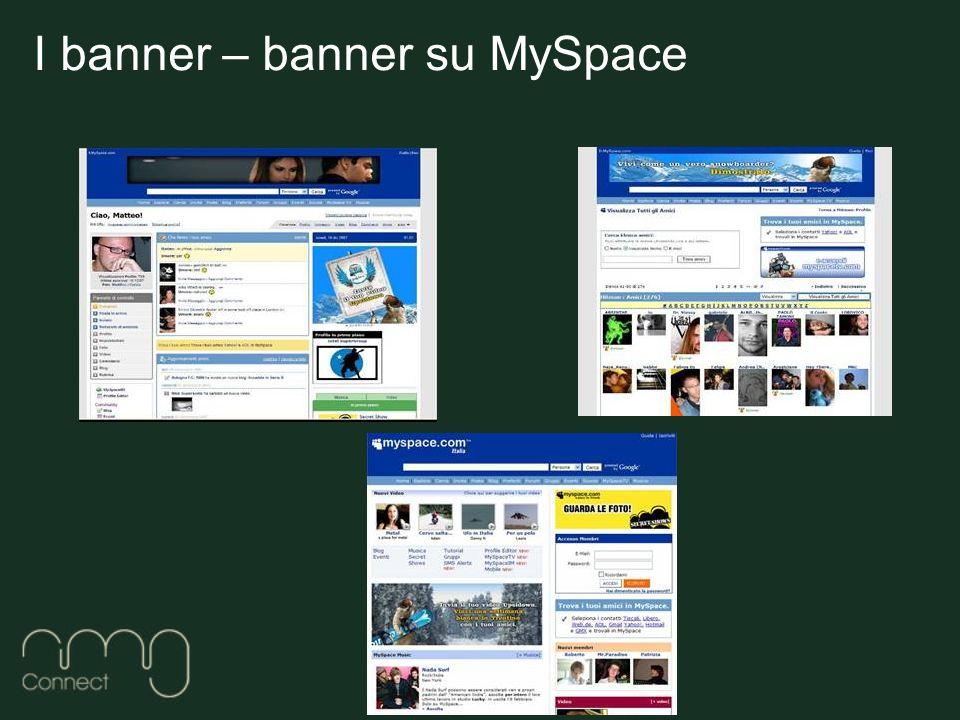 I banner – banner su MySpace