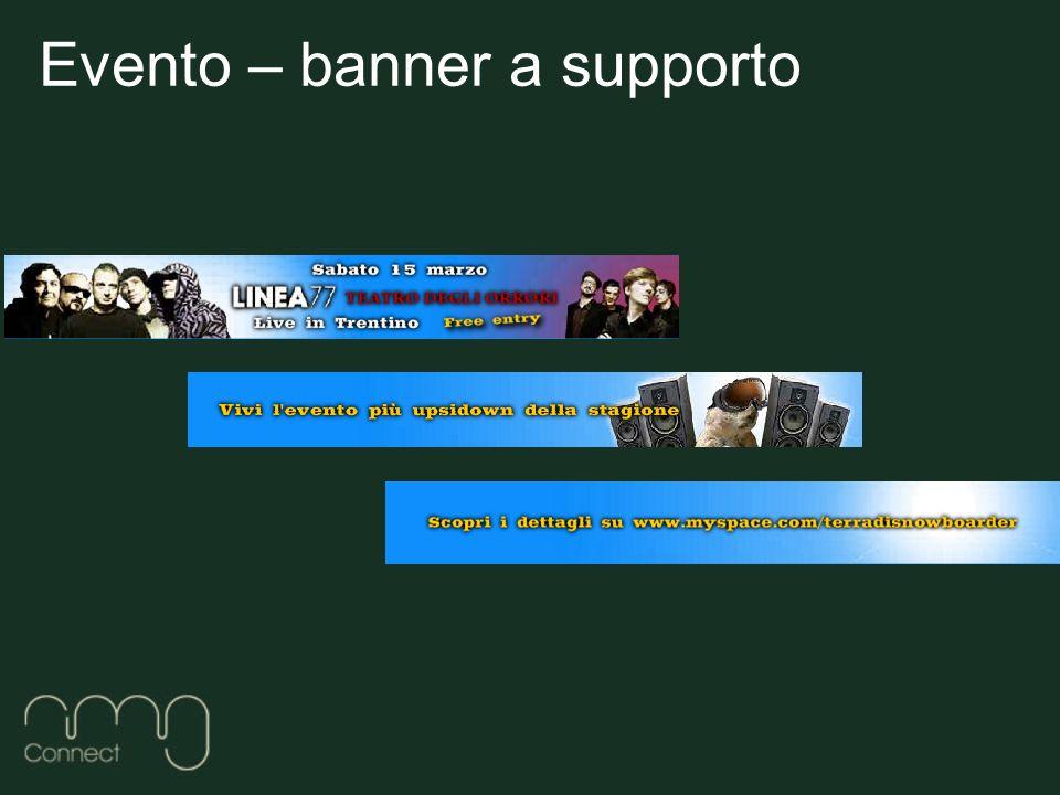 Evento – banner a supporto