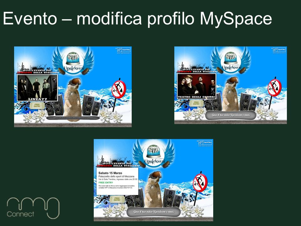Evento – modifica profilo MySpace