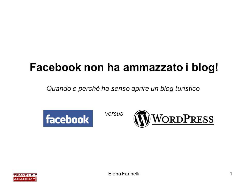 Elena Farinelli1 Facebook non ha ammazzato i blog! Quando e perchè ha senso aprire un blog turistico versus