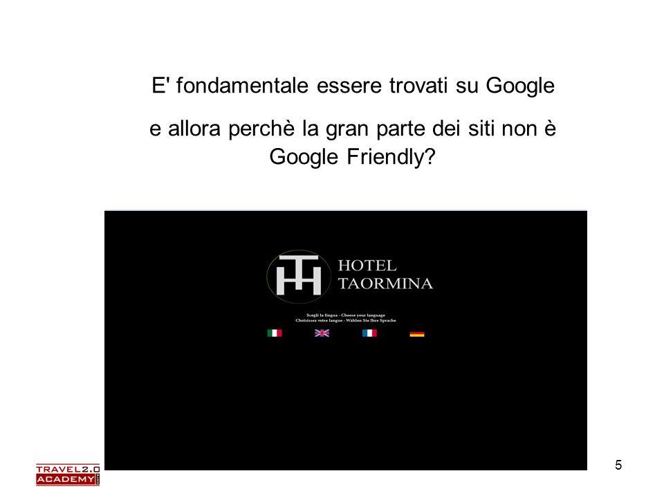 Elena Farinelli5 E' fondamentale essere trovati su Google e allora perchè la gran parte dei siti non è Google Friendly?
