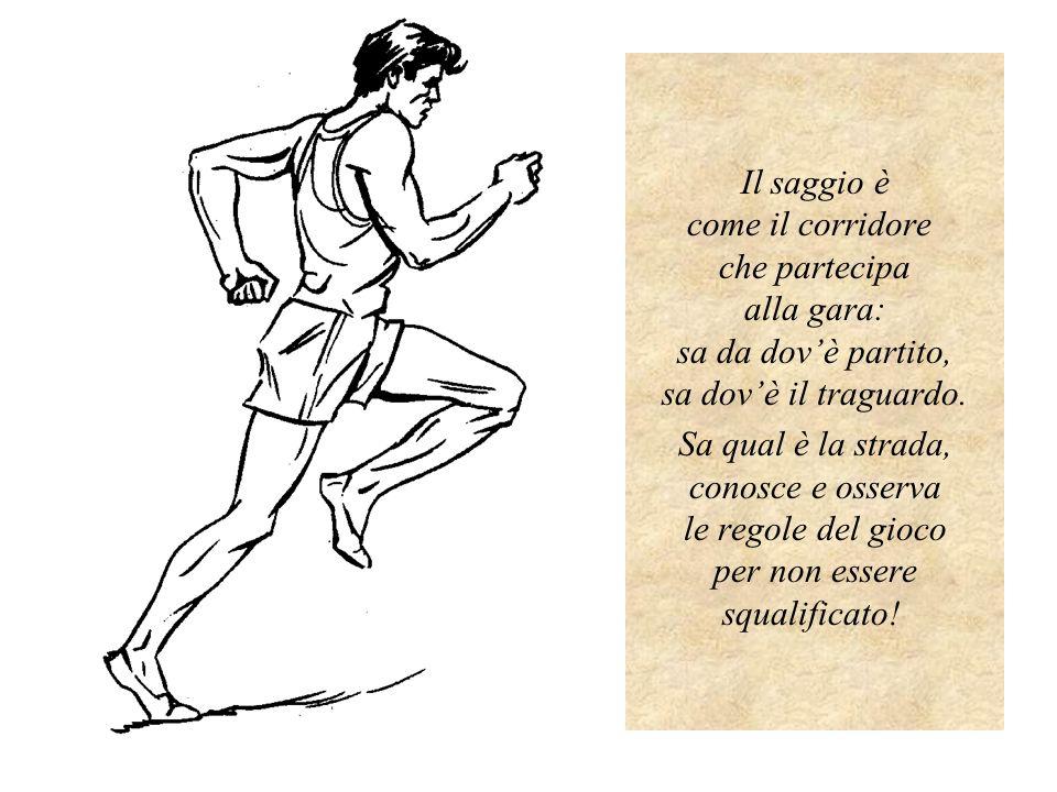 Il saggio è come il corridore che partecipa alla gara: sa da dovè partito, sa dovè il traguardo.