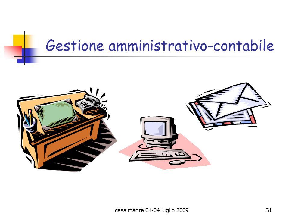 casa madre 01-04 luglio 200931 Gestione amministrativo-contabile