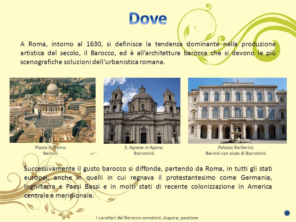 A Roma, intorno al 1630, si definisce la tendenza dominante nella produzione artistica del secolo, il Barocco, ed è allarchitettura barocca che si devono le più scenografiche soluzioni dellurbanistica romana.