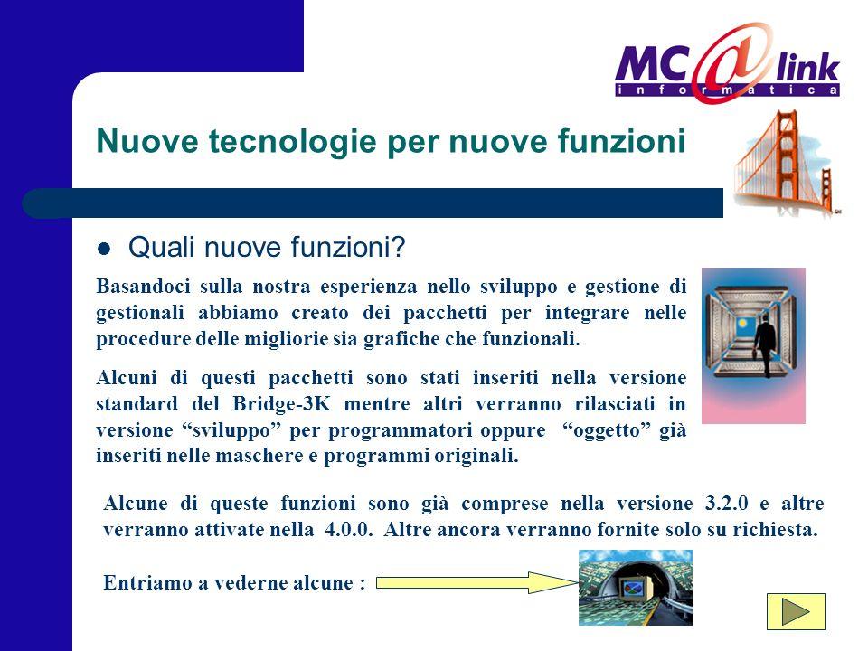 Nuove tecnologie per nuove funzioni Quali nuove funzioni.