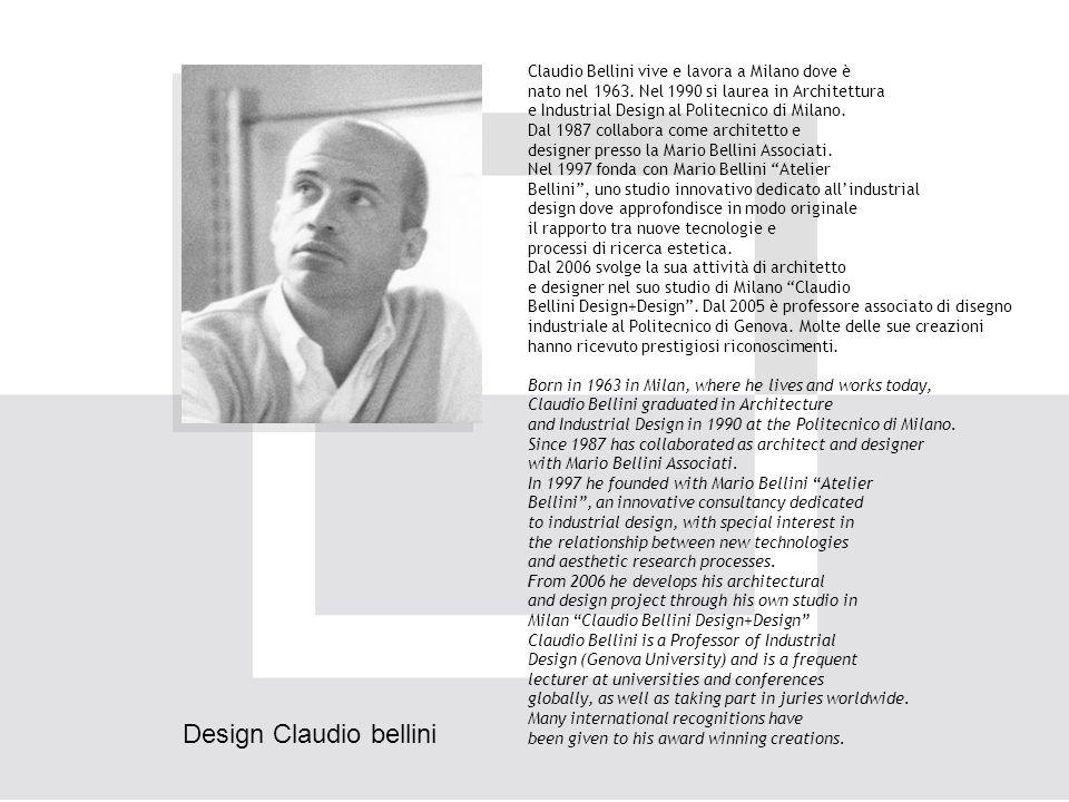 Claudio Bellini vive e lavora a Milano dove è nato nel 1963.