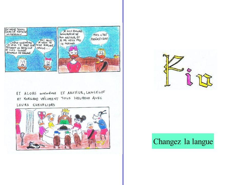 Changez la langue