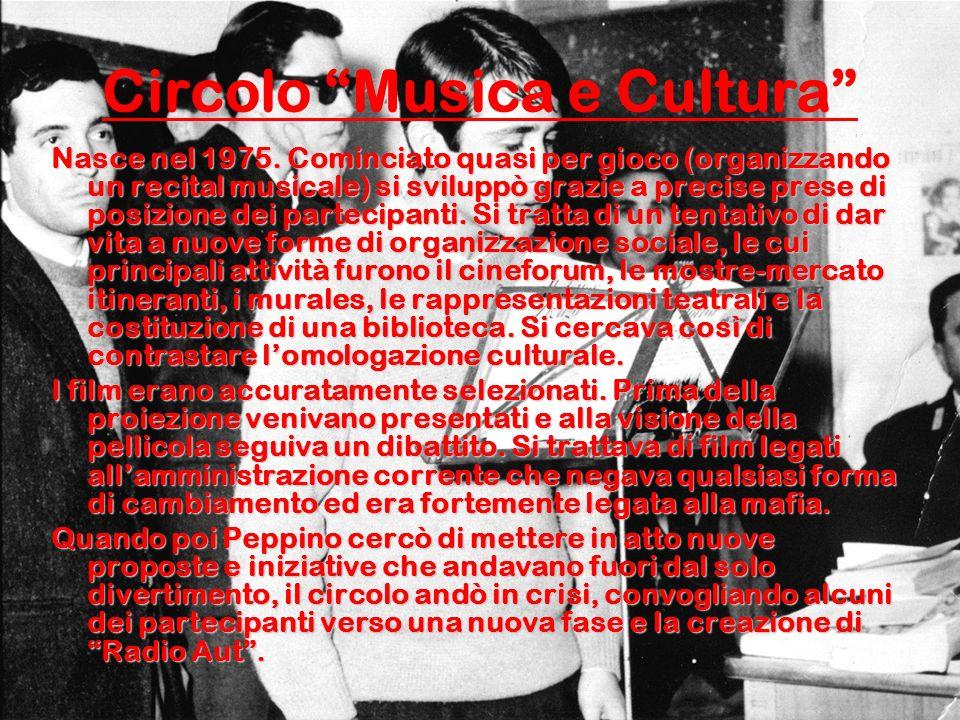 Circolo Musica e Cultura Nasce nel 1975.