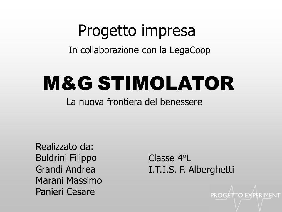 Progetto impresa Realizzato da: Buldrini Filippo Grandi Andrea Marani Massimo Panieri Cesare M&G STIMOLATOR In collaborazione con la LegaCoop La nuova